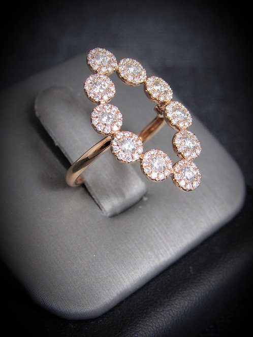 18KT Rose Gold Diamond Cluster Ring