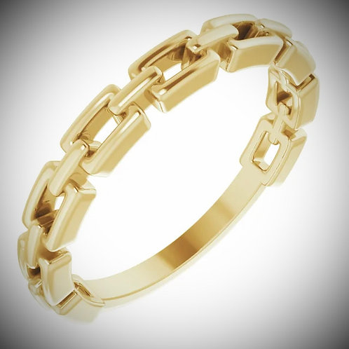 14KT Yellow Gold Chain Link Band Ring