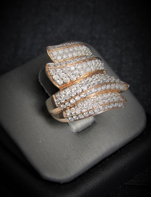 14KT Rose Gold Diamond Pave Style Ring