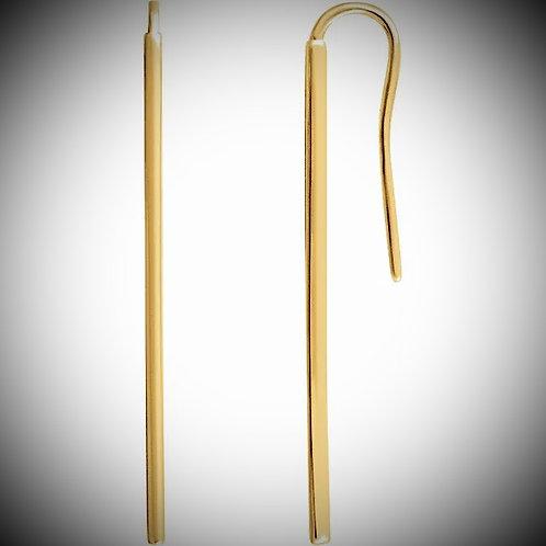 14KT Yellow Gold Vertical Bar Style Earrings