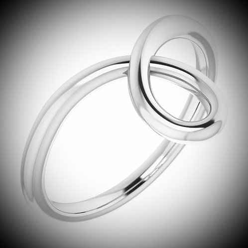 14KT White Gold Loop Ring