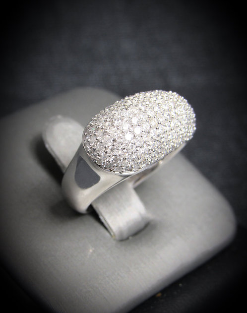 14KT White Gold Diamod Pave Style Ring