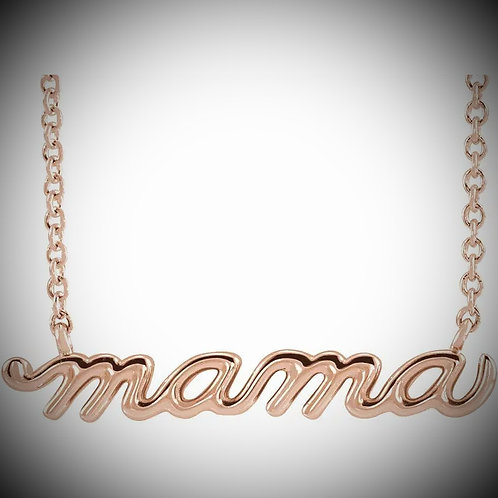 14KT Rose Gold Mama Script Necklace