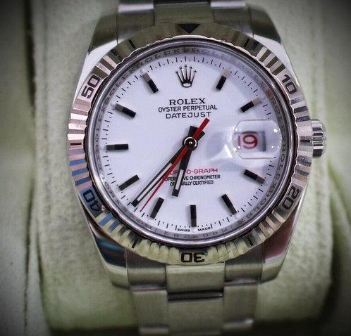 ROLEX Turn-O-Graph 116264 Watch 18KT white gold Bezel