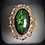 Thumbnail: 14KT Rose Gold Green Goldstone Oval Filigree Ring