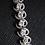 Thumbnail: Swirl White Topaz Sterling Silver Bracelet