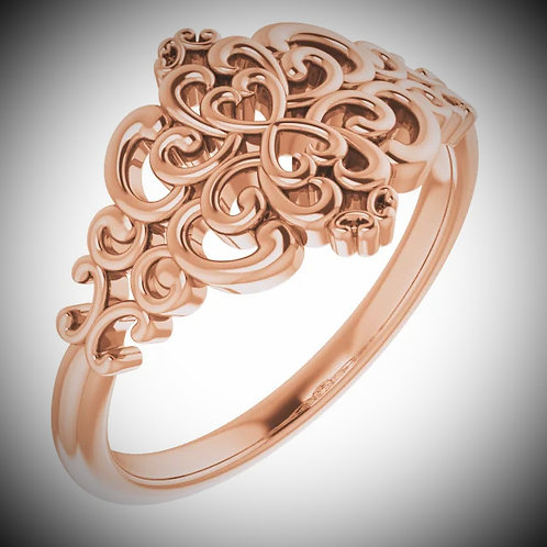 14KT Rose Gold Vintage-Inspired Ring