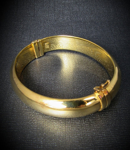 Smooth 18KT Yellow Gold Plated Sterling Silver Bangle
