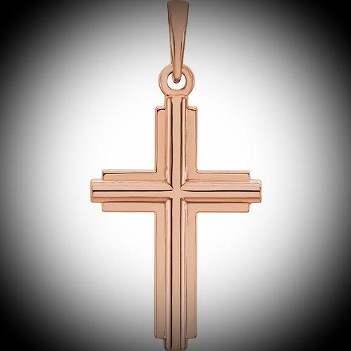 14KT Rose Gold Cross Pendant