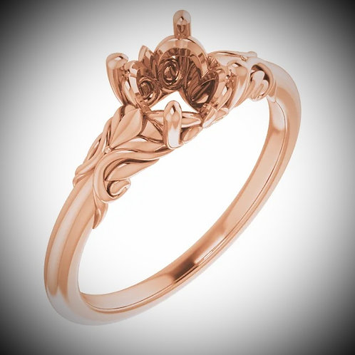 14KT Rose Gold Solitaire Engagement Mounting