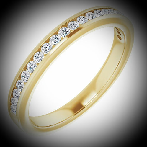 14KT Yellow Gold Diamond Channel Set Style Band