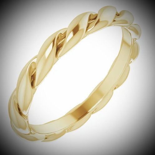 14KT Yellow Gold Twisted Band