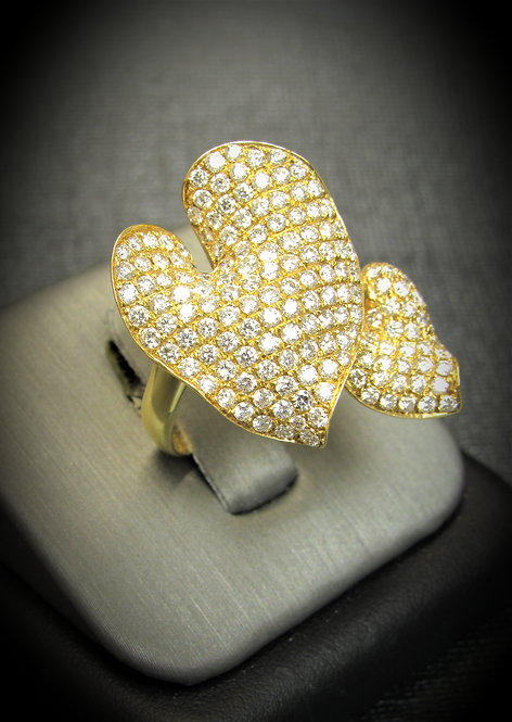 18KT Yellow Gold Diamond Pave Style Ring