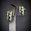Thumbnail: Emerald & White Topaz 14KT Yellow Gold With Sterling Silver Earrings