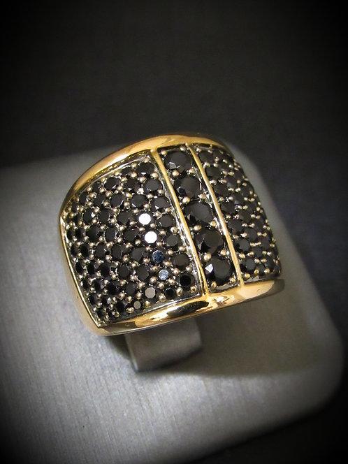 Black Spinel Bronze Ring