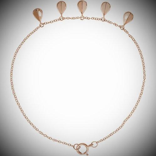 14KT Rose Gold Geometric 5-Station Chain Bracelet