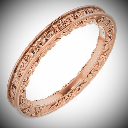 14KT Rose Gold Floral-Inspired Band