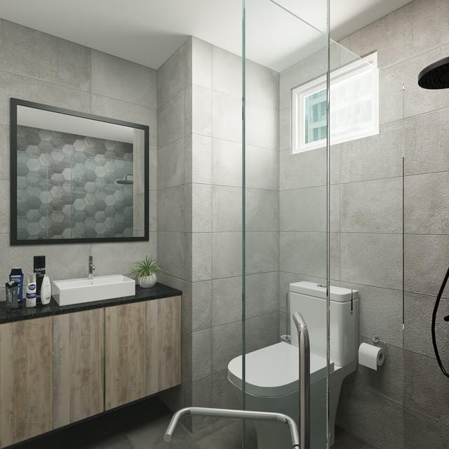 industrial theme bathroom
