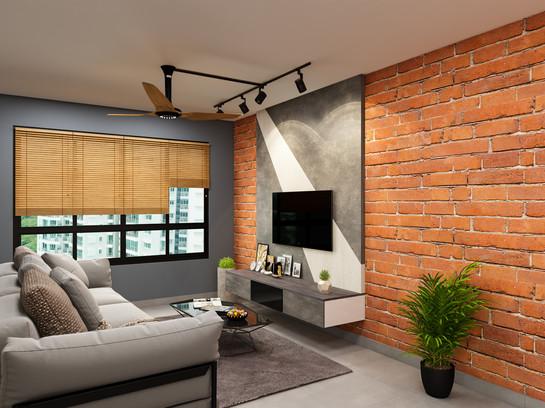 BTO Living Room Renovation