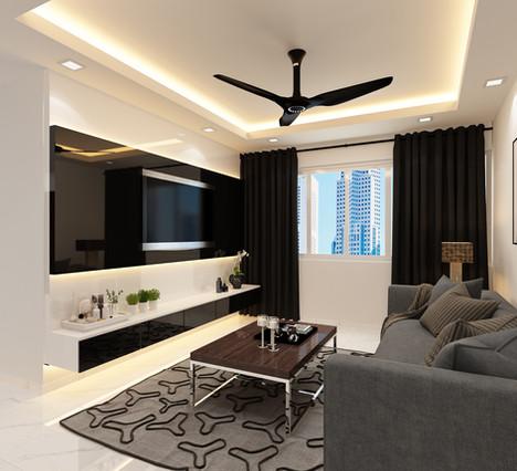 BTO full renovation living room 3 room HDB