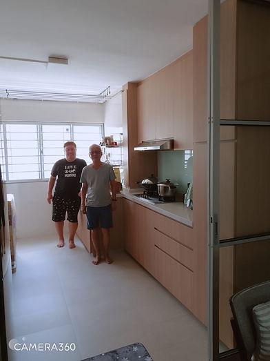 Full home renovation Clementi HDB interior design kitchen