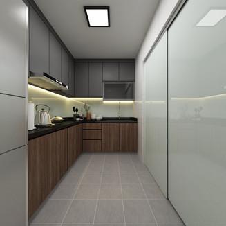industrial themed BTO kitchen