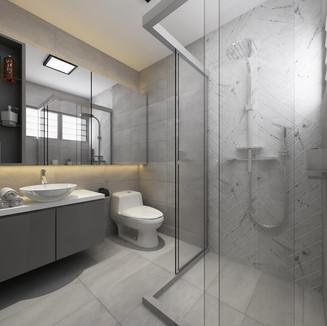 industrial themed bathroom