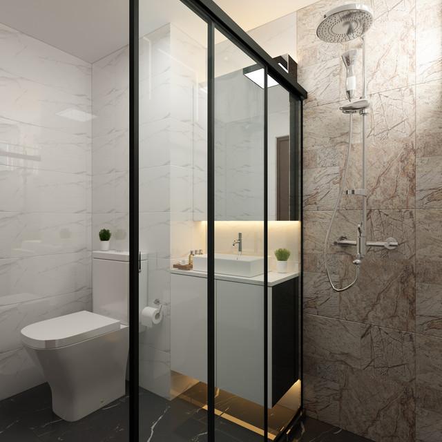 modern + contemporary themed bathroom