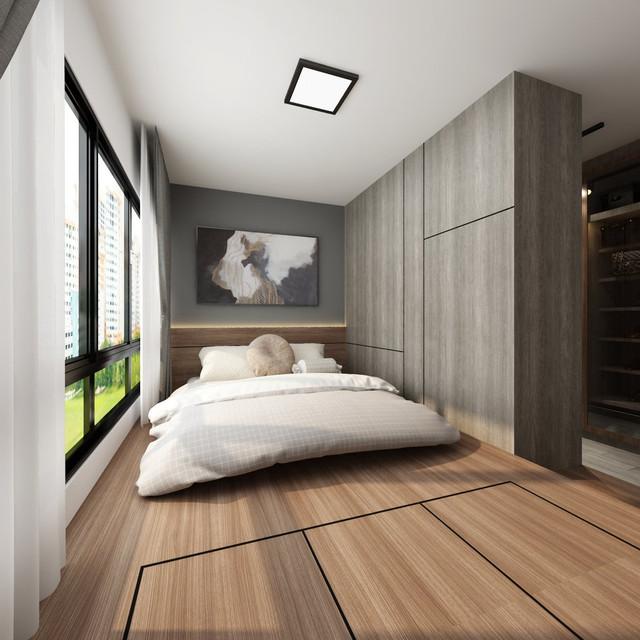 modern contemporary master bedroom