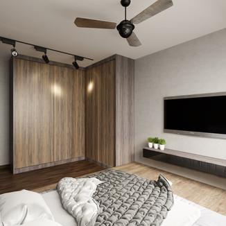 industrial themed BTO master-bedroom