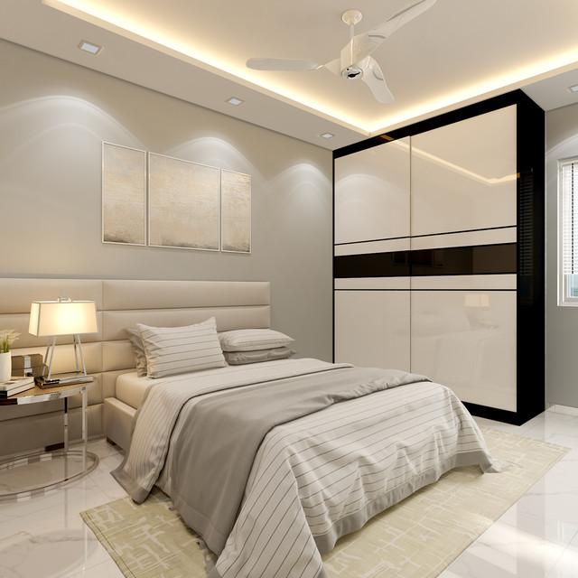 modern themed master bedroom 5 room resale @ Bukit Merah