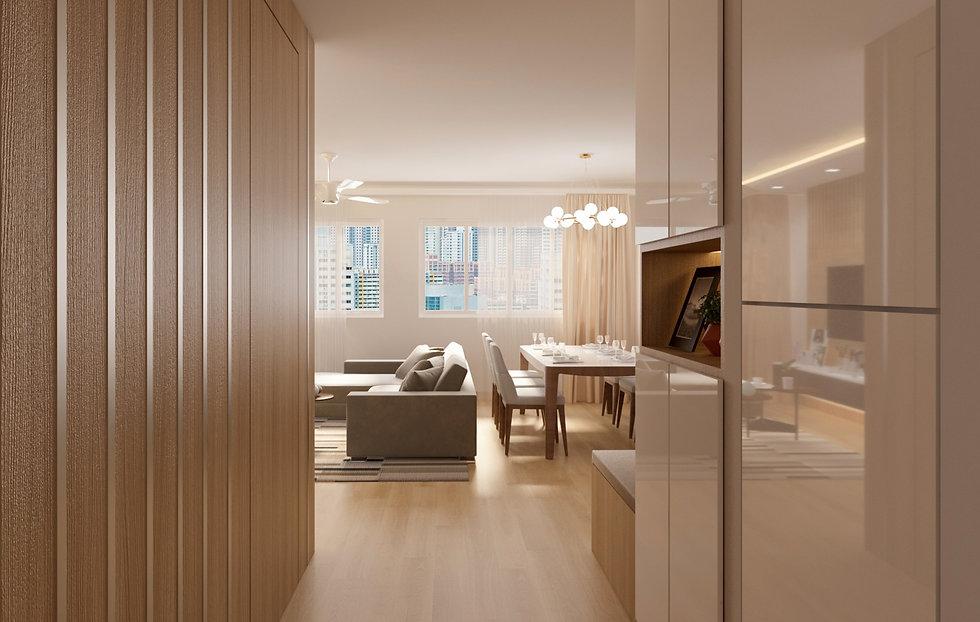 BTO living Room Gong Studio Interior Design