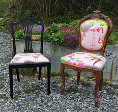 Recently upholstered dining chairs