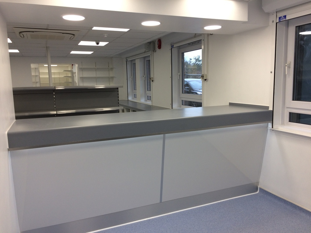 Most recent Pharmacy fit-out involving internal alterations to existing GP Surgery to form a new Pharmacy.  The works involved the strip out of existing fittings, finishes and services and minor alterations, including new partitions, doors and finishes.  Alterations also to the existing mechanical and electrical installations.  Our Client, Georgian Pharma Ltd, are very pleased with their new space within the Chelston Hall Surgery (Barton branch).  Haldons provided the Client with: Architectural Design, Quantity Surveying/Cost Management, Project Management and Principal Designer (CDM) services.  The project was delivered on time and on budget.