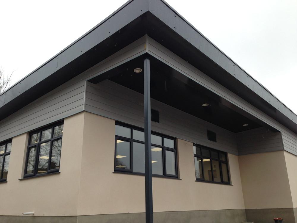 External facade of new building