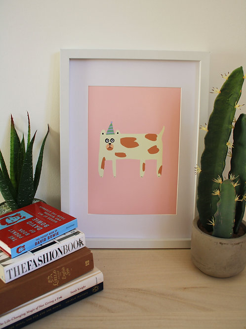 Party Hat Dog Print