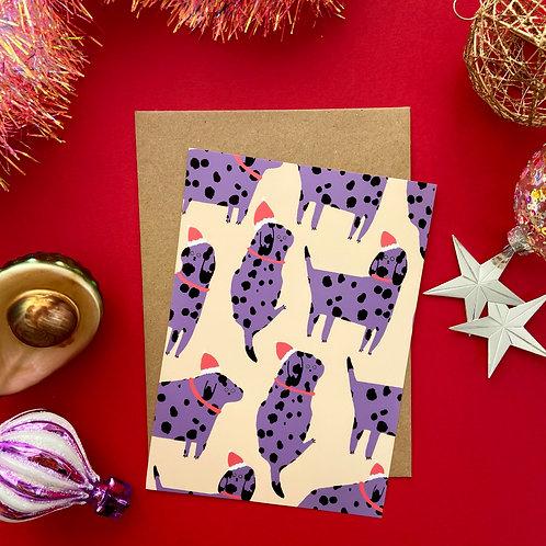 Santa Dogs Card