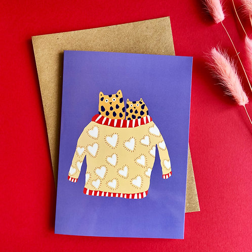 Loved Up Cats Card