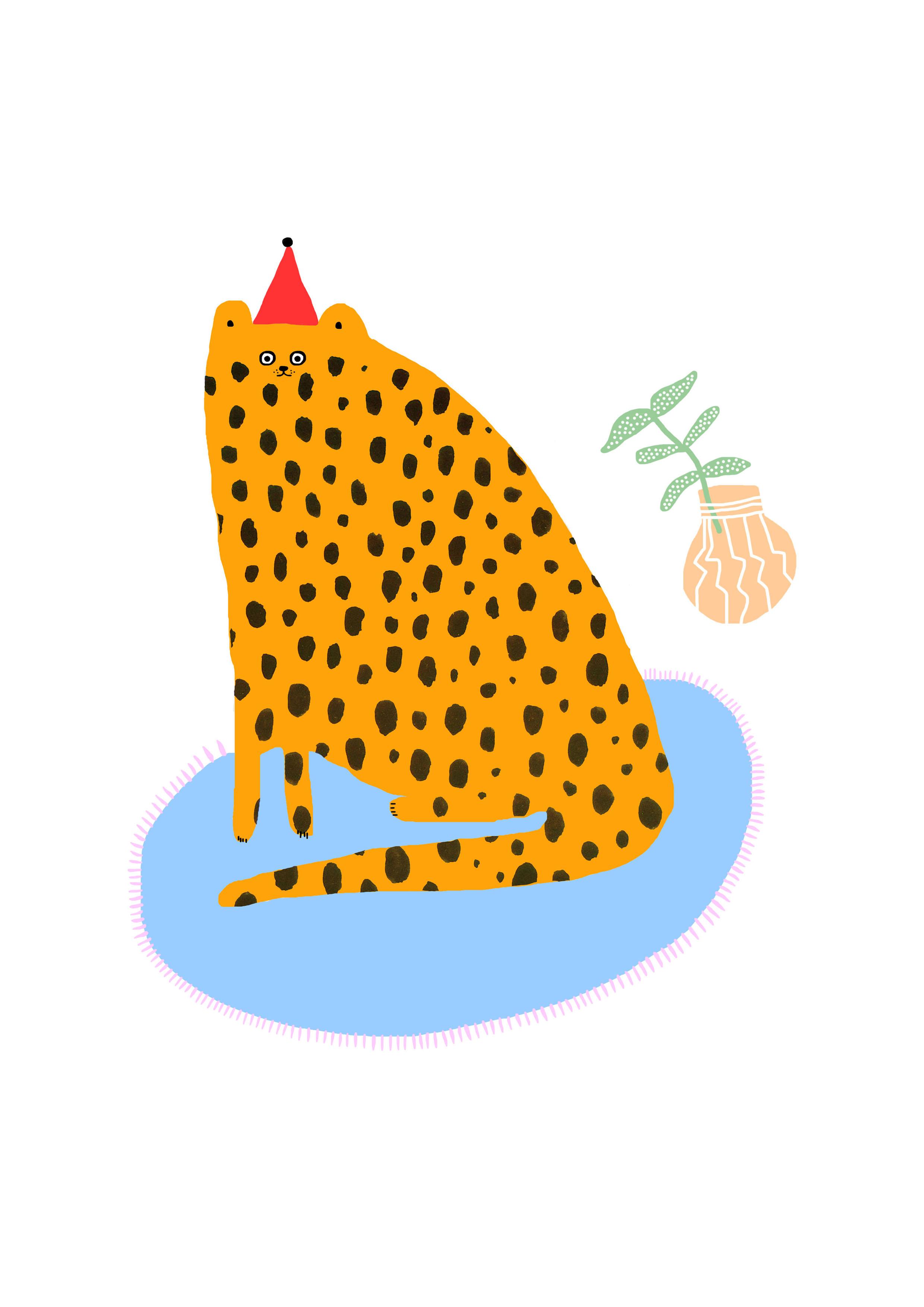 leopardpartyhat
