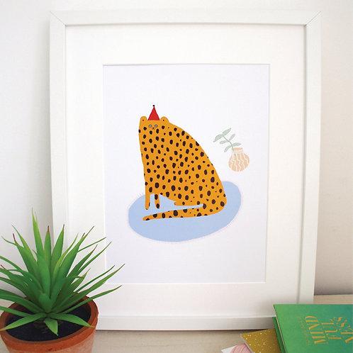 Party Cat Print