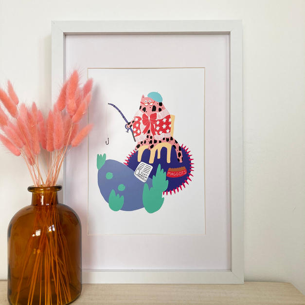Vivienne's Gone Fishing Print