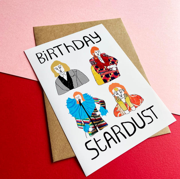 Birthday Stardust (White) Card