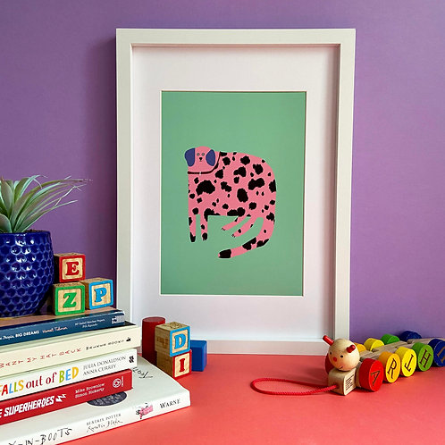 Pink Dalmatian Print