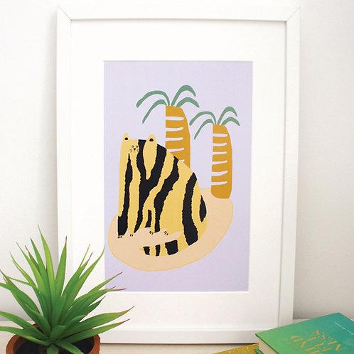 Cats & Palms Print