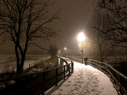 Town Path in Snow