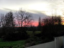 Winter Sunset Lock's Lane