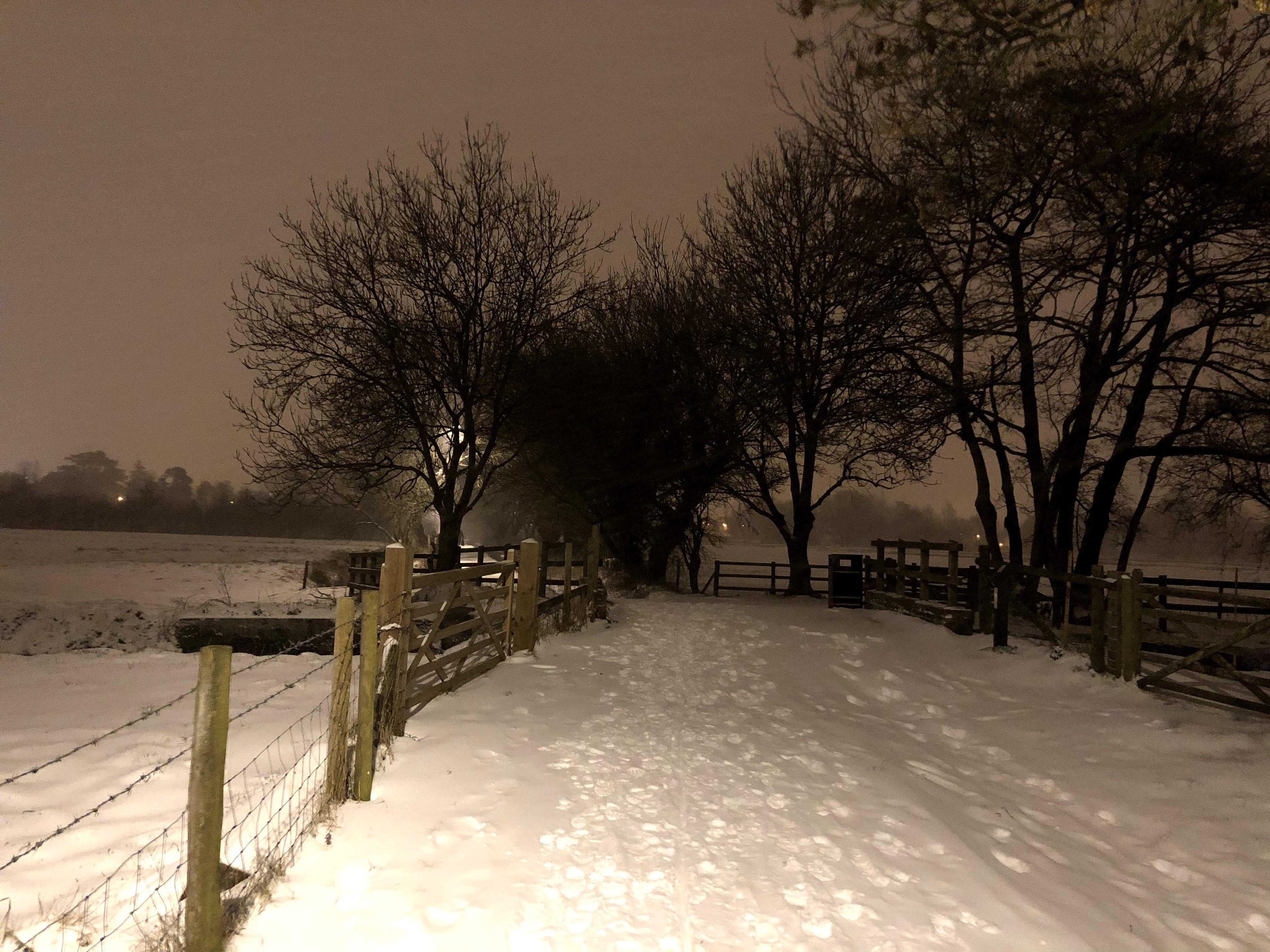 Town Path Snow