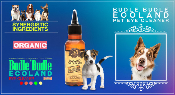 Budle Budle Ecoland Eye Cleaner relieves pet's eye irritation caused by wind, dirt, sun, air pollution, pollen, and other irritations.  Helps clean discharge from your pet's eyes caused by allergies or other eye problems.  Cost-effective, pain-free alternative to medicated eye drops.  Veterinarian-recommended maintenance solution to keep your pet's eyes clean and prevent tear -stains and other eye issues.  It provides relief for your pet's burning, irritated, or red eyes.  Safe for all animals at all life stages.