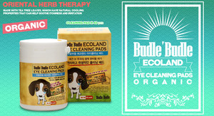 Budle Budle Ecoland Dog Eye Cleaning Pads contains a solution of mild cleansers that gently soothe and clean your dogs' tear stains. It is a domestic treatment that you could simply use to remove tear stains around your dog's or pet's eyes.  1.    Chrysanthemum Morifolium Flower Extract and Angelica Dahurica Root Extract aid in removing mucus secretions, discharge, & tear stains from around your pet's eyes.  2.    Reduces the risk of eye irritations & itching.  3.    No rinsing required, maintaining your pet's appearance clean and quick and easy task.  4.    Safe for use in dogs, puppies, cats as well as all pets.  5.    Natural ingredients, antibiotic-free.  6.    It is a proven anti-inflammatory, antibacterial, antifungal and gentle cleansing agent.  7.    Use for routine cleaning, dissolving dried matter, and removing tear stains for your pets.
