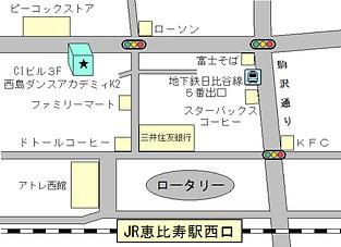 西島ダンスアカデミィK2地図